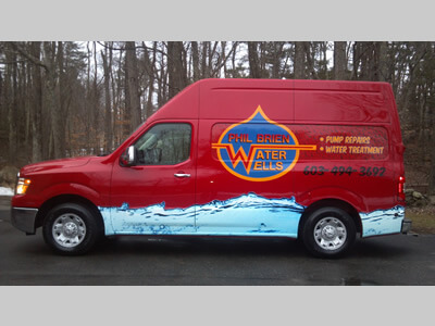 the Phil Brien Water Wells van