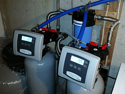 water tank control installation